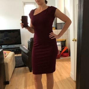 Burgundy French Connection mini dress in size 6